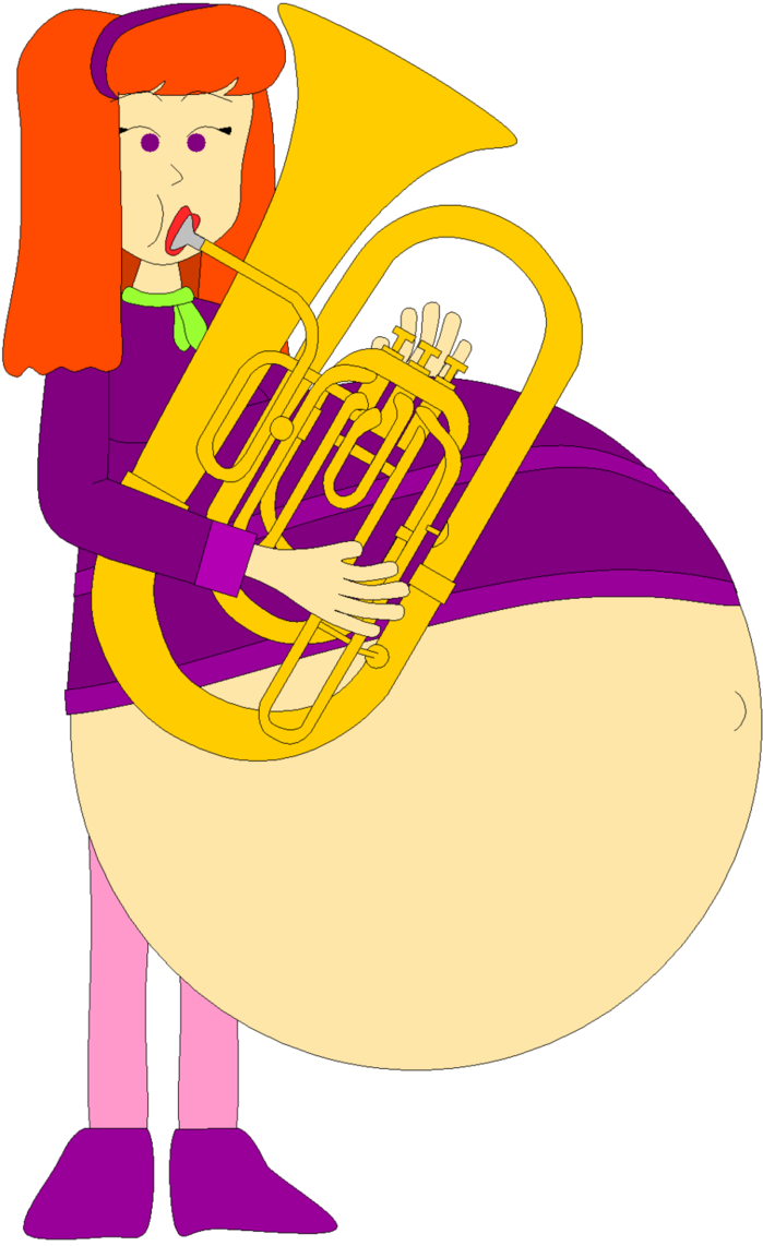 Tubist daphne vore by. Musician clipart tuba player
