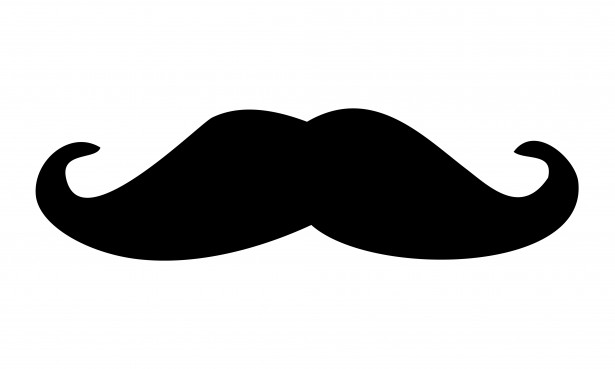 Moustache clipart. Black free stock photo