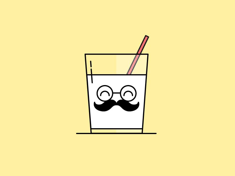 Mustache clipart milk mustache. Moustache by vivian ong