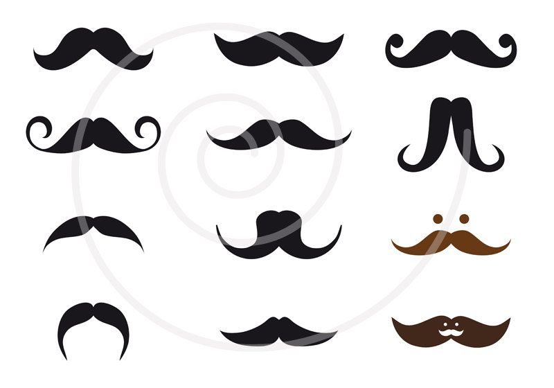 Styles panda free images. Mustache clipart mustache style