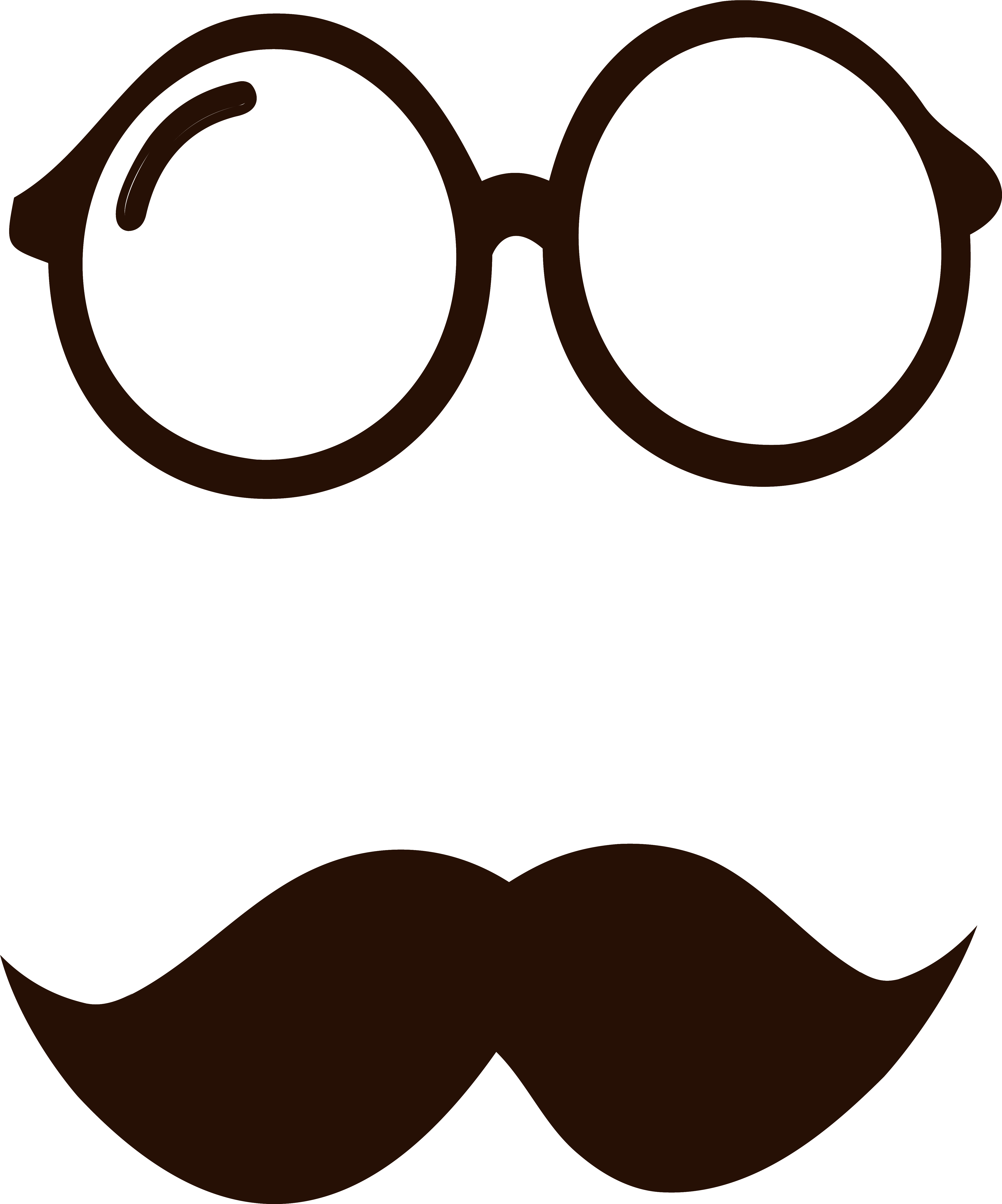 Hd movember glasses and. Mustache clipart nerd glass