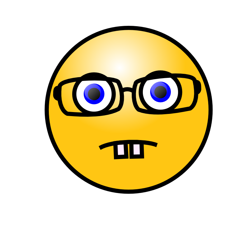 Smiley face with glasses. Mustache clipart nerd glass