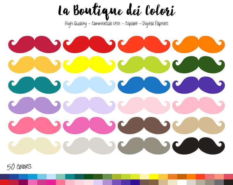 digital illustrations png. Mustache clipart rainbow