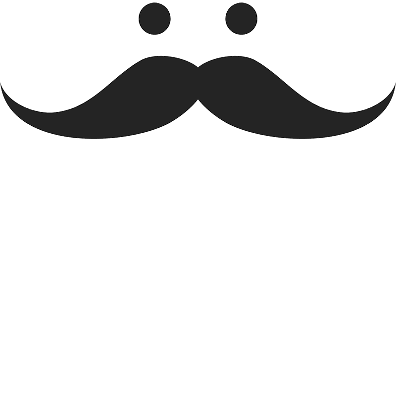 Mustache clipart stache. The hairs have eyes