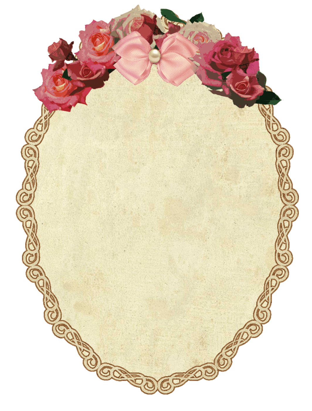 Vintage with flowers photos. Oval picture frame png