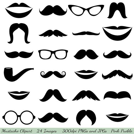 Mustache clipart. Clip art glasses lips