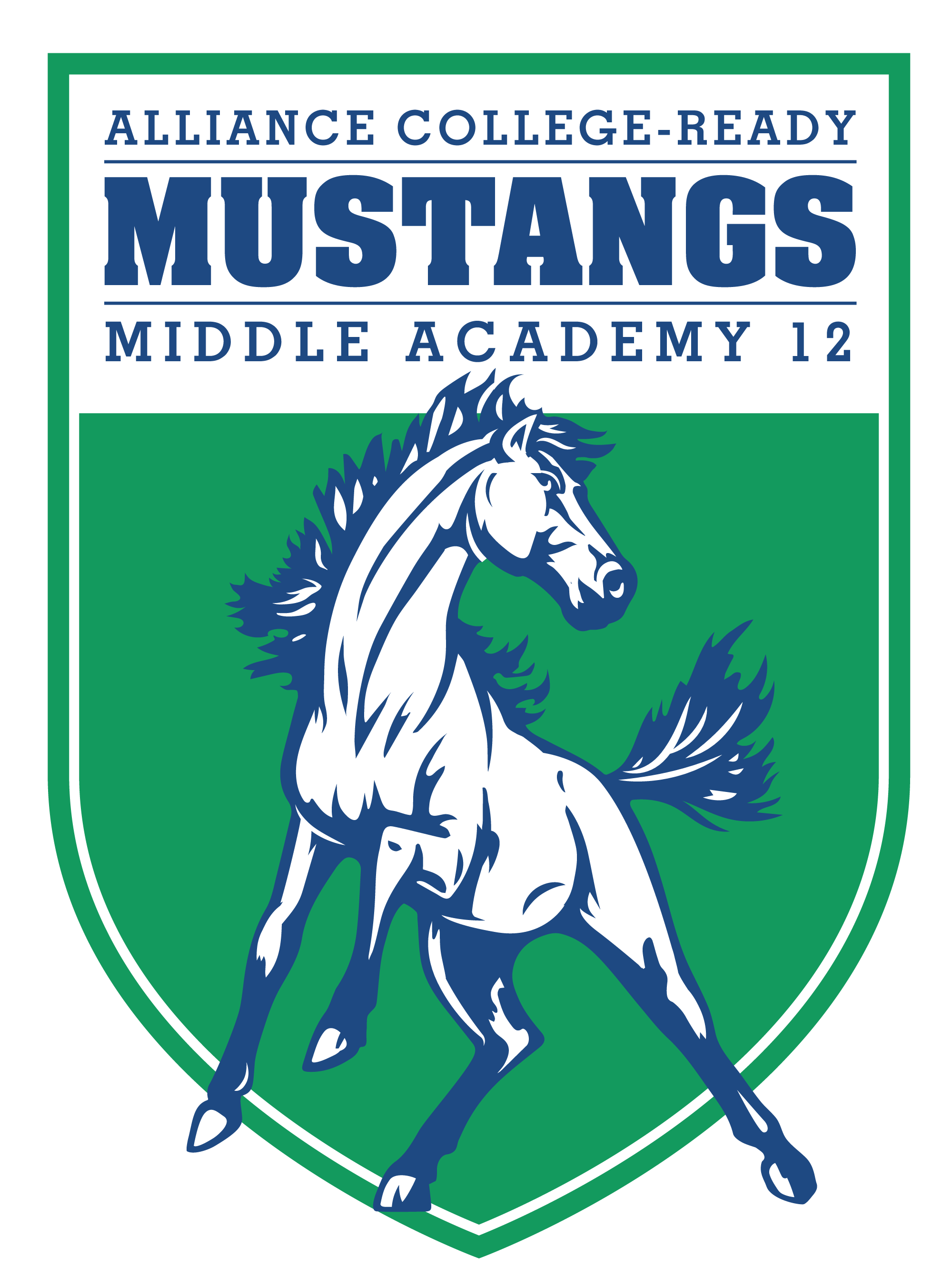 Alliance college ready academy. Mustang clipart central middle school