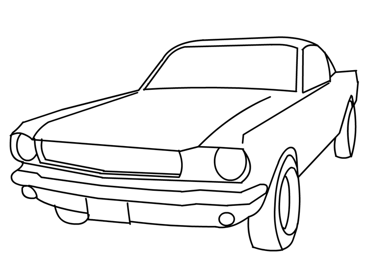 Mustang clipart ford vintage. Car panda free images