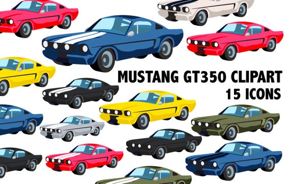 Mustang clipart muscle car. Classic icons