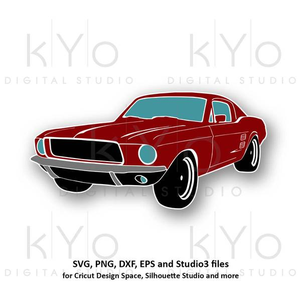 Classic ford svg png. Mustang clipart muscle car