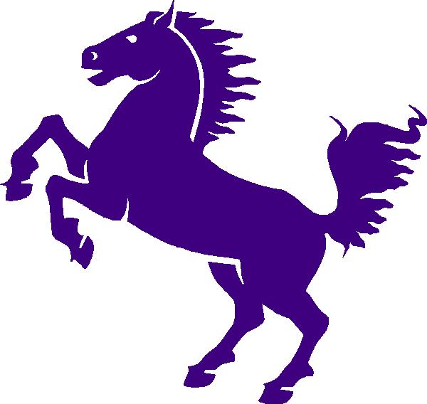 Purple clip art at. Mustang clipart mustang emblem