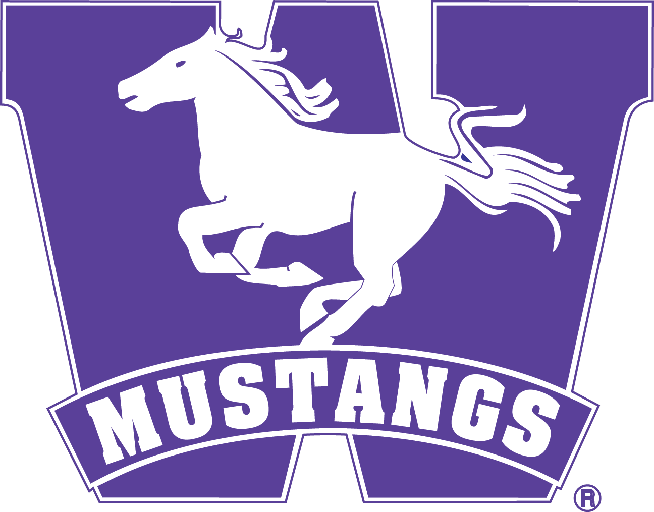 Mustang clipart mustang emblem. Logo communications western university