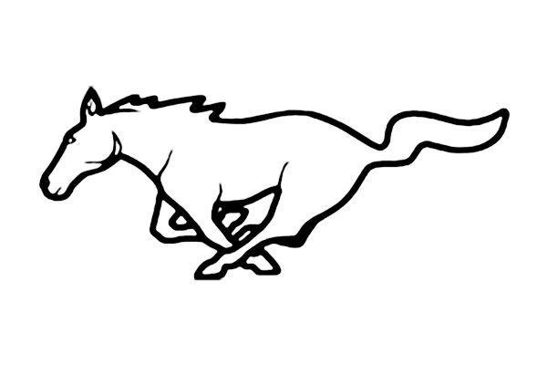 Mustang clipart mustang emblem. Ford google search silhouette