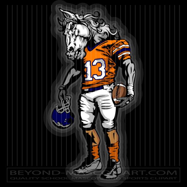 Mustang clipart mustang football. Clip art