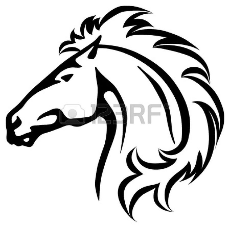 Mustang clipart mustang head. Horse free download best