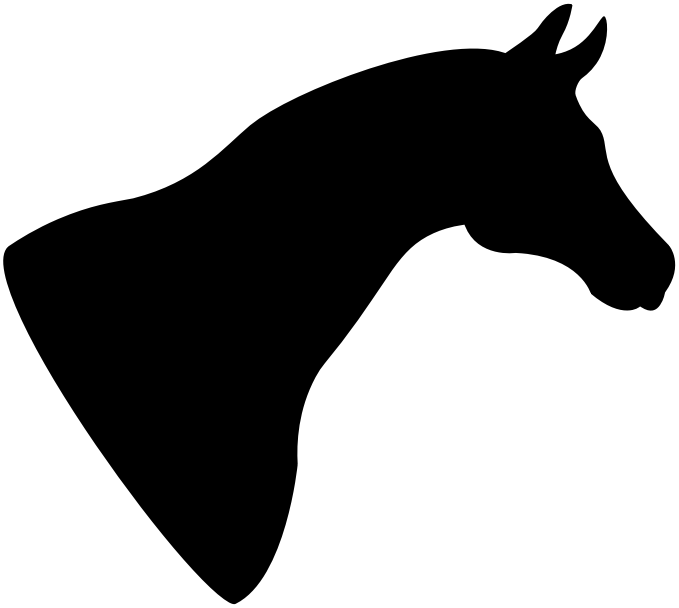 Mustang clipart mustang head. Horse silhouette medium image