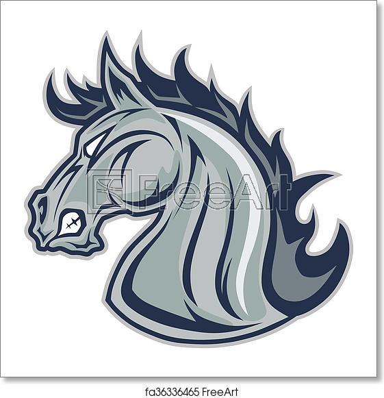 Free art print of. Mustang clipart mustang head