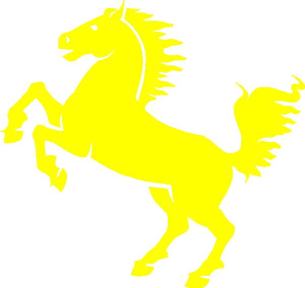 Yellow clip art at. Mustang clipart mustang logo