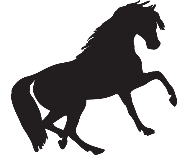 mustang clipart svg