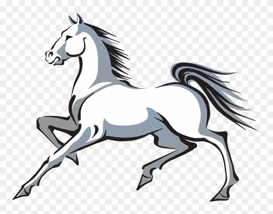Mustang clipart transparent background. Free horse clip art