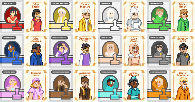 One long night mysteries. Mystery clipart cluedo