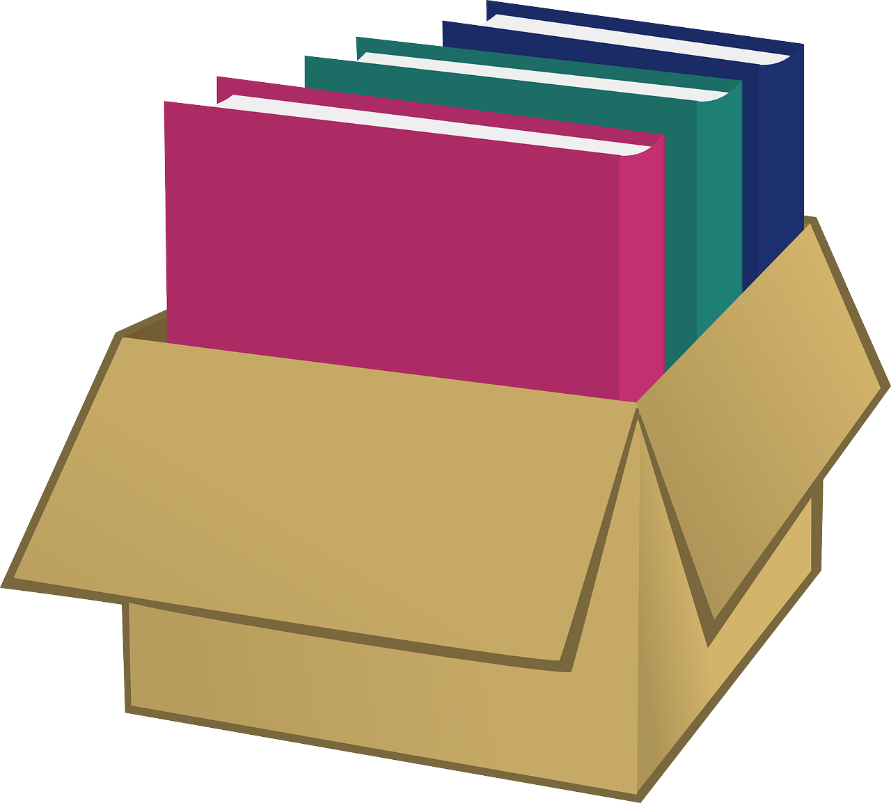 Box bookworks wooing buyers. Organized clipart shelving book