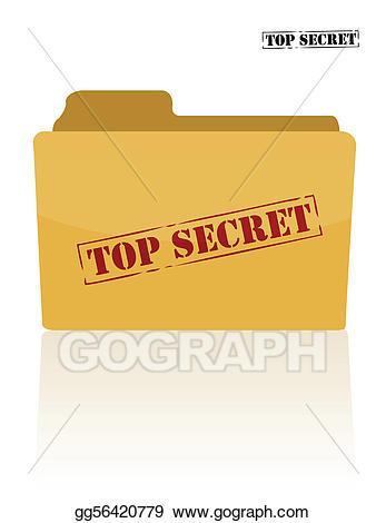 Secret clipart file. Vector stock document folder