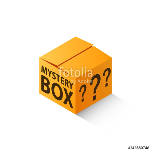 Box isometric image isolated. Mystery clipart icon