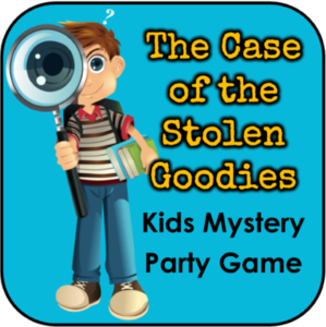 Printable detective party game. Mystery clipart intrigue