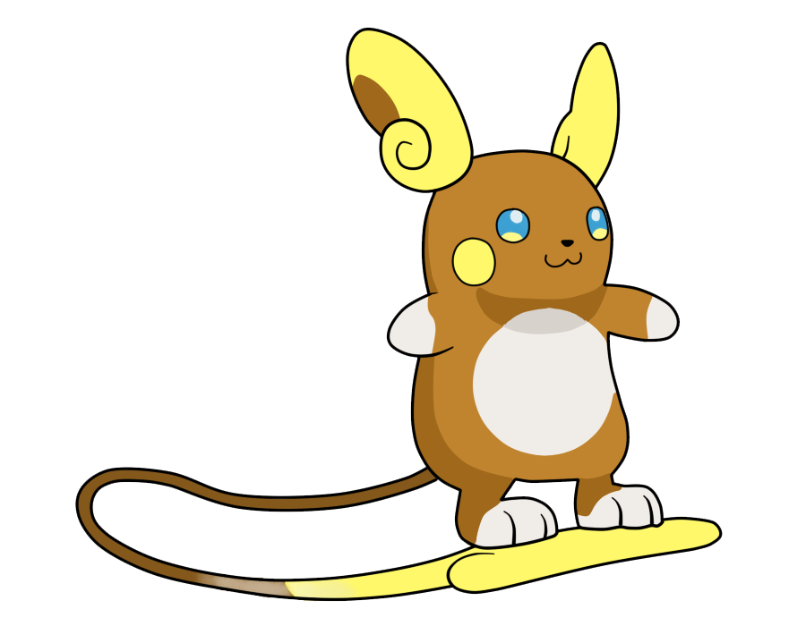 Image alolan raichu by. Nickel clipart tail
