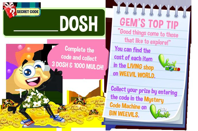 Bin weevils blog dosh. Secret clipart secret code