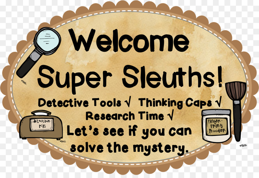 Mystery clipart super sleuth. Food background transparent clip