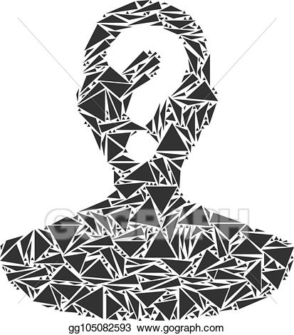 Mystery clipart unknown person. Vector stock collage of