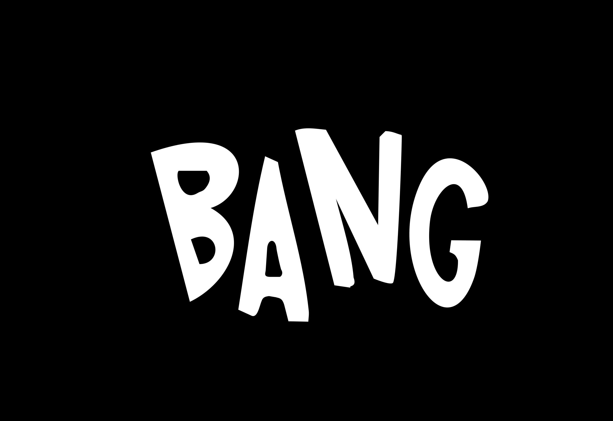 Words clipart pop. Bang big image png