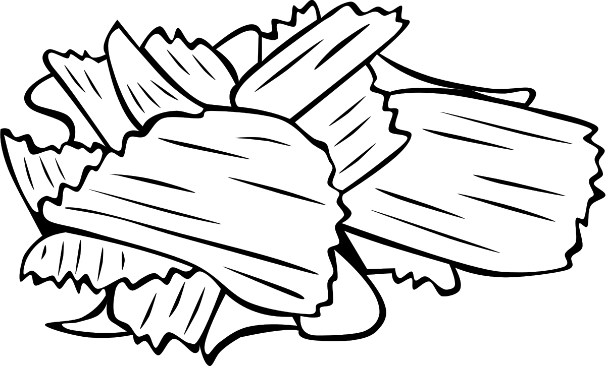 collection of high. Chips clipart black and white