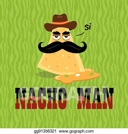 Nacho clipart hat spanish. Vector stock man in