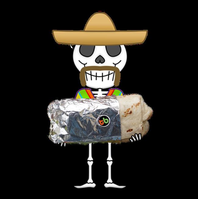 Nacho clipart hat spanish. Menu thatburrito in charge