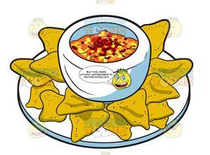 A of nachos . Nacho clipart plate