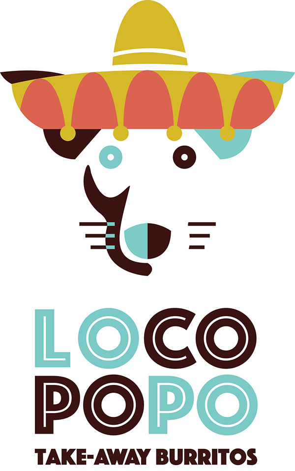 Loco popo logo design. Nacho clipart restaurant mexican