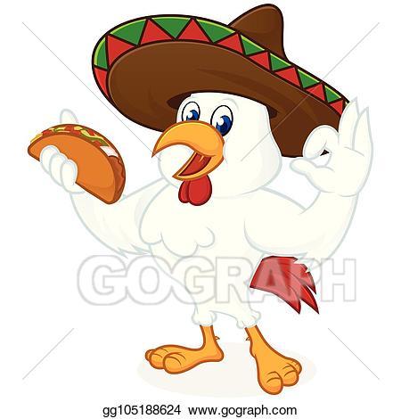 Clip art vector chicken. Nacho clipart sombrero