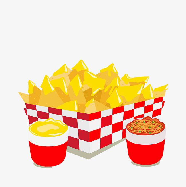 Floating cornflakes suspension corn. Nachos clipart