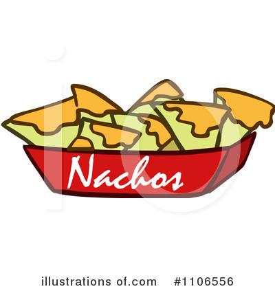 Illustration by lineartestpilot . Nachos clipart basket