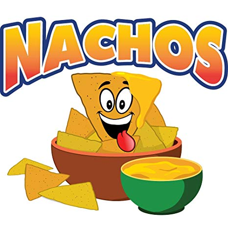 Nachos clipart concession stand. Decal sign cart trailer