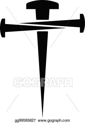 Nails clipart cross. Vector of illustration