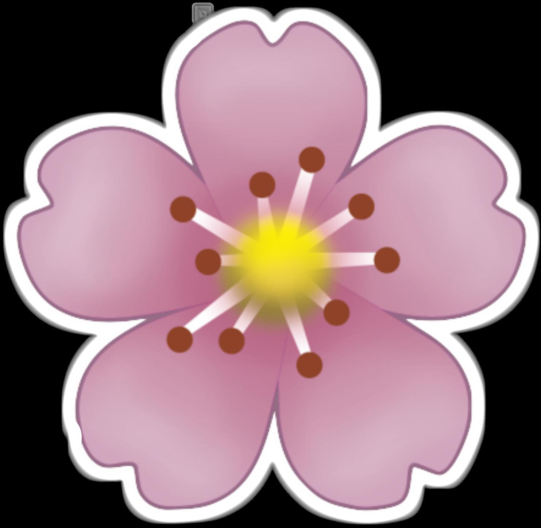 Nail clipart emoji. Sticker pink flowers clip