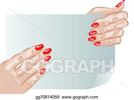 Vector art hands and. Nail clipart female hand