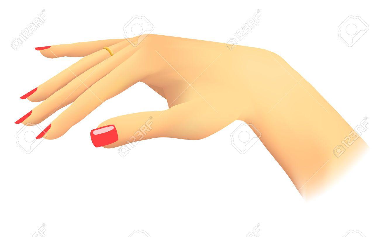 Finger vector images black. Nails clipart hand nail