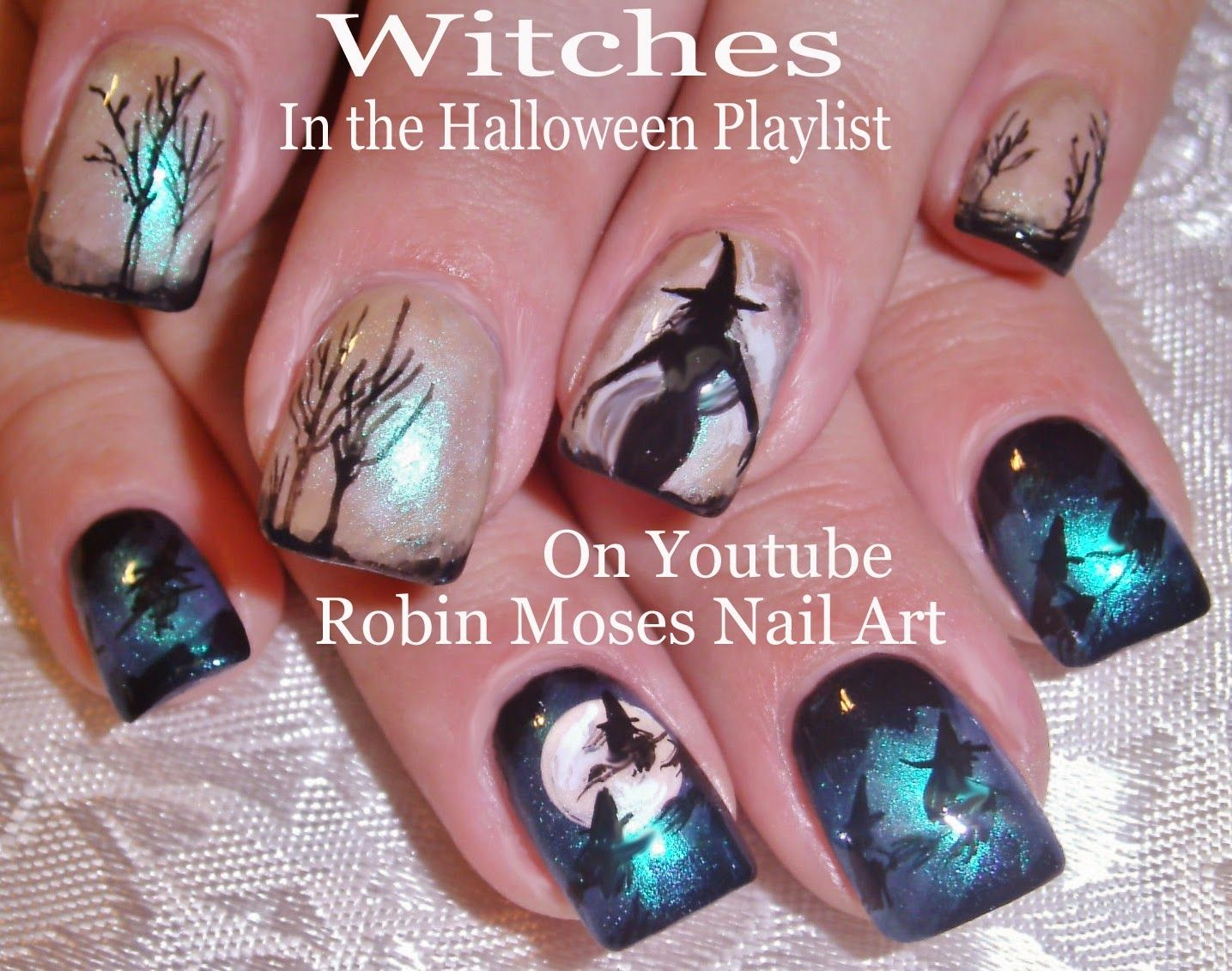 Halloween nails witch . Nail clipart nail art design