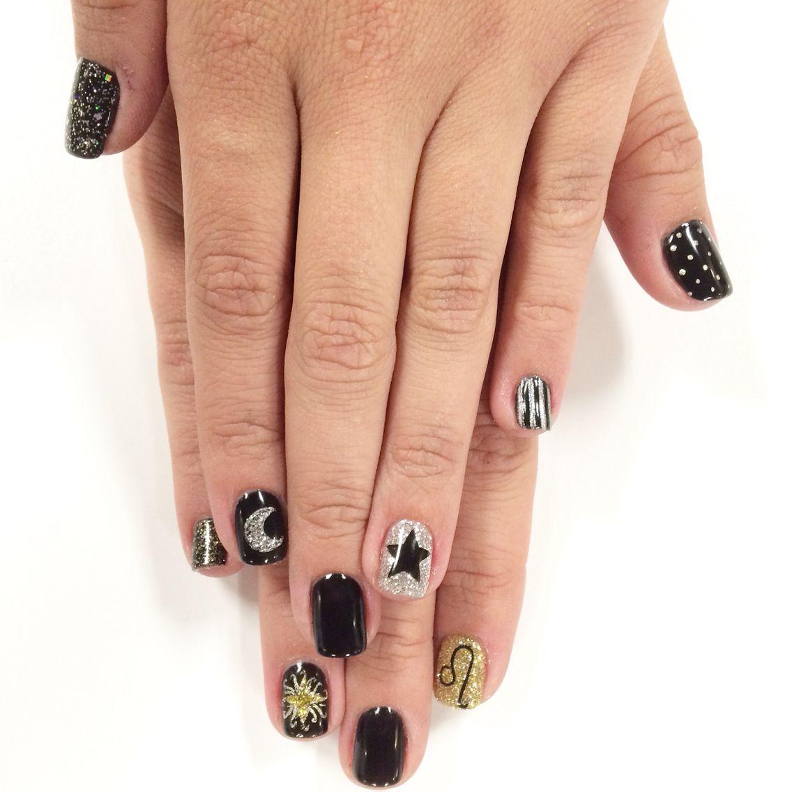 Nail clipart nail art design. Moon star sun and