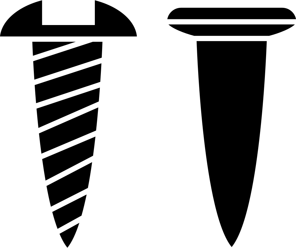And outlines side view. Nail clipart nail screw